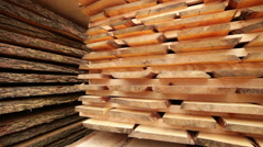 Stack pallet boards wood Stock Footage
