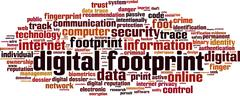 Stock Illustration of Digital footprint word cloud