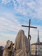 Turin, Italy - January 2016: Religion Statue Stock Photos