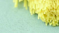 Spaghetti pasta in close up Stock Footage
