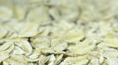 Oatmeal in close up - stock footage