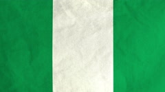 Nigerian flag waving in the wind (full frame footage) Stock Footage