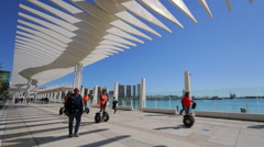 Malaga Pergola Walkway Stock Footage