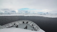 Nose icebreaker and Antarctic seas. Stock Footage