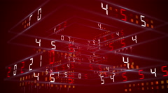 digital technology numbers counter backgorund 4K Rotating 360 RED - stock footage