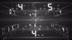 digital technology numbers counter backgorund 4K still colorless - stock footage