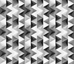 Seamless abstract pattern made of greyscale triangles Stock Illustration