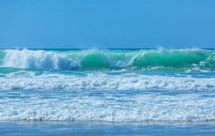 High Waves of Atlantic Ocean, Biarritz - stock photo