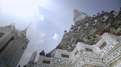 The ancient Wat Arun temple, aka the Temple of Dawn, in Bangkok, Thailand Stock Footage