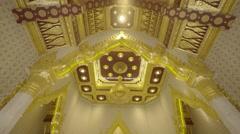 Golden Buddha in Wat Traimit, Bangkok, Thailand Stock Footage