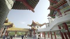 Amazing buddhist temple in Kuala Lumpur Stock Footage