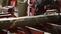 Machine logs lumber nobody plant Stock Footage