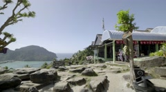 Beautiful landscape, view point  in Phi Phi island Stock Footage