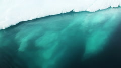 A small iceberg floating in waters of Antarctica. Stock Footage