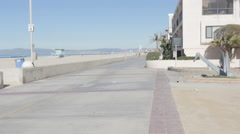 Hermosa Beach Boardwalk Stock Footage