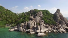 Flying over Koh Samui islands - stock footage