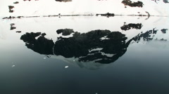 Reflection of Antarctica Mountain in water surface - stock footage