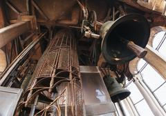 Huge bells inside San Marco Campanile Stock Photos