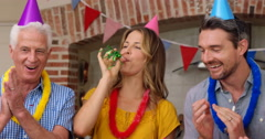 Extended family celebrating birthday together Stock Footage