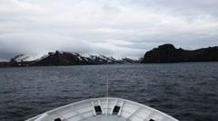 Nose icebreaker and Antarctic seas. - stock footage