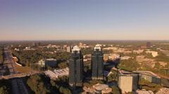 Atlanta Aerial around buildings Stock Footage