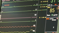 Monitor cardiac indications of human activities Stock Footage