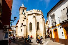 Traffic on the small street in Sevilla. September 09, 2015 - stock photo