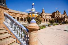 Plaza de Espana, square of Spain,  in Seville Stock Photos