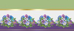 Pansy flowers greeting card Background - stock illustration