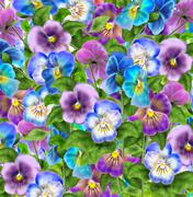 Pansy violet flower background - stock illustration