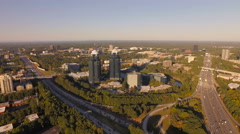 Atlanta Aerial towards buildings Stock Footage