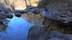 Natural rocky pond of a mountain stream in the Seoraksan National Park. Sokcho Stock Footage