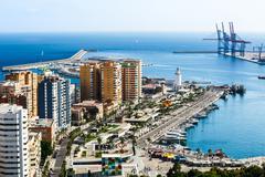 View of Malaga port. Costa del Sol, Andalusia - stock photo