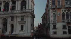 Venice Historical Buildings Tracking from Gondola 4K Stock Footage