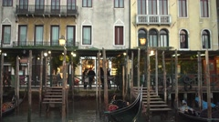 Venice Streets and Port Tracking from Gondola 4K Stock Footage