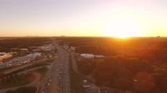Atlanta Aerial over freeway Stock Footage