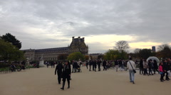 Louvre. The famous art museum in Paris. France. Stock Footage