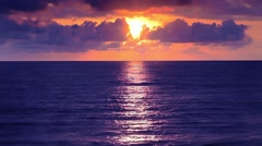 Sunset and Sea 1 Stock Footage