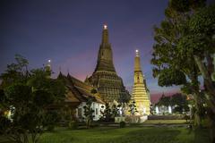 Wat Arun at night Stock Photos