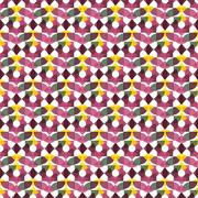 Seamless Colorful Abstract Pattern from Repetitive Concentric Arcs - stock illustration