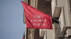 Crowne plaza flags Stock Footage