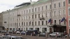 Historical building in Saint-Petersburg Stock Footage