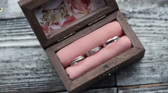 Three rings in a box - stock footage