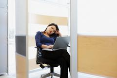 Bored looking office worker Stock Photos