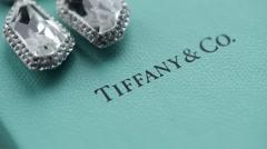 Tiffany jewelry earrings Stock Footage