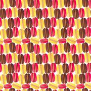 Seamless pattern with tasty macaroons Stock Illustration