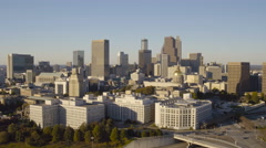 Atlanta Aerial over State building - stock footage