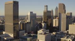 Atlanta Aerial through downtown - stock footage