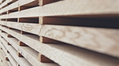 Background. Stack of wooden boards. RAW video record Stock Footage