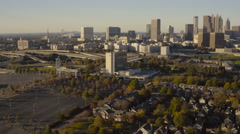 Atlanta Aerial over Summerhill Stock Footage